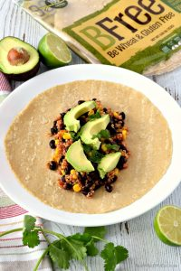 These gluten free and vegan Southwest Quinoa Wraps are super easy to make and packed with flavor! They use simple and healthy ingredients making them a great meal option! #glutenfree #vegan #dairyfree #eggfree #lunchideas #dinner #recipes #easy