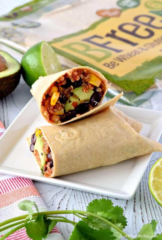 Southwest Quinoa Wraps – Gluten Free, Vegan