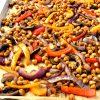 Sheet Pan Chickpea Fajitas – Gluten Free, Vegan