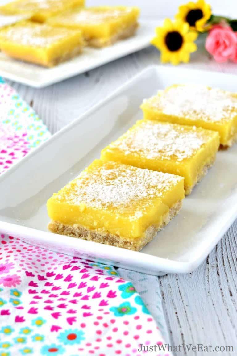 Vegan Lemon Bars – Gluten Free