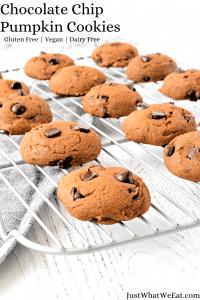 Chocolate Chip Pumpkin Cookies - Gluten Free, Vegan