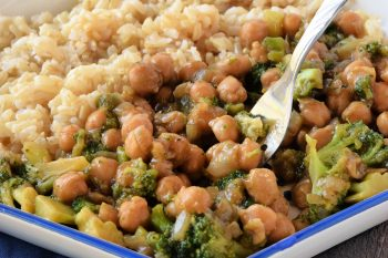 Asian Chickpeas and Broccoli - Gluten Free, Vegan, Soy Free